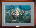 Art, Mort Künstler. Sharpsburg War Council (1999). AP22 of 100. 27x18.Accompanied by certificate of authenticity. Gen. Lee and...