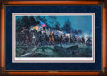 Art, Mort Künstler. Lee Takes Command (2004). AP22 of 100. 29x16.Accompanied by certificate of authenticity. President Davis a...