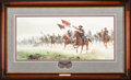 Art, Mort Künstler. The Charge at Trevilian Station (1997). AP22 of 75.29x13. Accompanied by certificate of authenticity. Gen....