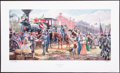 Art, Mort Künstler. Victory Rode the Rails (2005). AP22 of 100. 30x15.Accompanied by certificate of authenticity. Gen. Jackson...