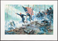 Art, Mort Künstler. Chamberlain's Charge (1994). SN780 of 1500. 28x17.Accompanied by certificate of authenticity. Little Round...