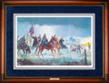 Art, Mort Künstler. Thunder in the Valley (1992). AP22 of 50. 26x17.Accompanied by certificate of authenticity. Gen. John C. B...