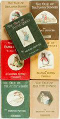 Books:Children's Books, Beatrix Potter. Group of Seven Titles, Including The Tale ofPeter Rabbit. 1904, 1906, 1909, 1910, 1911 (two with n....(Total: 7 Items)