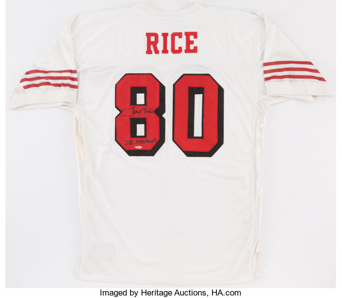 9cfa98483b1 Football Collectibles:Uniforms, Jerry Rice Signed San Francisco 49ers Jersey .
