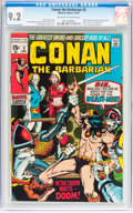 Bronze Age (1970-1979):Adventure, Conan the Barbarian #2 (Marvel, 1970) CGC NM- 9.2 Off-white to white pages....