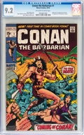 Bronze Age (1970-1979):Adventure, Conan the Barbarian #1 (Marvel, 1970) CGC NM- 9.2 Off-white to white pages....