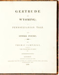 Books:Literature Pre-1900, Thomas Campbell. Gertrude of Wyoming; a Pennsylvanian Tale. AndOther Poems. London: Longman, Hurst, Rees, and Orme,...