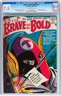 Silver Age (1956-1969):Adventure, The Brave and the Bold #15 (DC, 1957) CGC VF- 7.5 Off-white to white pages....