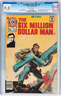 The Six Million Dollar Man #1 (Charlton, 1976) CGC NM/MT 9.8 White pages
