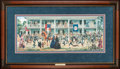 Art, Mort Künstler. Covered with Glory (1999). AP22 of 100. 28x11.Accompanied by certificate of authenticity. 26th North Carol...
