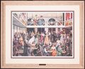 Art, Richard Axtell. A Night of Neutral Ground at the Bird Cage (1995).SN191 of 1000. 29x21. Setting is Bird Cage Theatre in T...