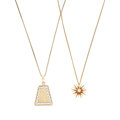 Estate Jewelry:Necklaces, Diamond, Gold Pendant-Necklaces. ... (Total: 2 Items)