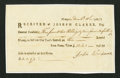 Colonial Notes:Rhode Island, Rhode Island Interest Receipt Form £3 2s 9d 1f December 15, 1785Extremely Fine-About New.. ...
