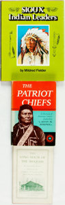 Books:Americana & American History, [Native American]. Group of Three Books on Native American History.Various publishers and dates. ... (Total: 3 Items)