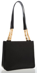 Luxury Accessories:Bags, Bally Black Leather Shoulder Bag with Gold Hardware . ...