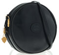 Luxury Accessories:Bags, Gucci Navy Blue Leather Circular Shoulder Bag. ...