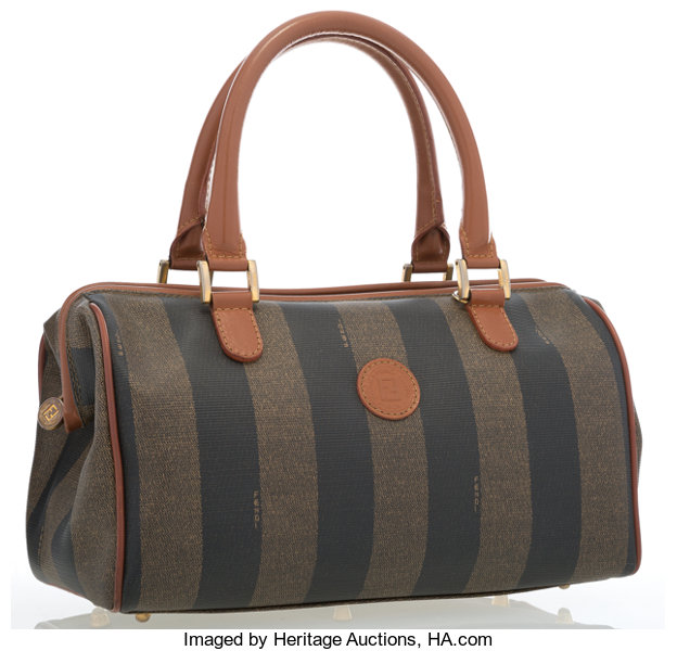 6073300457 Fendi Pequin Striped Canvas Tote Bag. ... Luxury Accessories Bags ...
