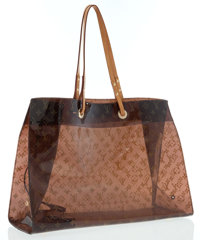 Louis Vuitton Limited Edition Classic Monogram Vinyl Ambre Cruise Cabas Tote Bag