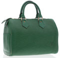 Luxury Accessories:Bags, Louis Vuitton Green Epi Leather Speedy 25 Bag. ...