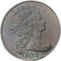 1802 1C S-225, B-1, R.3, MS64 Brown PCGS. Our EAC Grade MS60