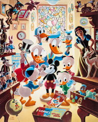 Carl Barks In Uncle Walt's Collectery Limited Edition Print #202/345 (Another Rainbow, 1984).... (Total: 2 Items)