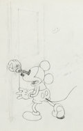 Animation Art:Production Drawing, The Mad Doctor Mickey Mouse Production Drawing Animation Art(Walt Disney, 1933). ...