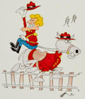 Animation Art:Production Drawing, Gerard Baldwin Dudley Do-Rite and Horse IllustrationOriginal Art (undated).. ...