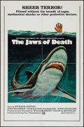 "Movie Posters:Adventure, Jaws of Death (Cannon, 1977). One Sheet (27"" X 41"") and Ad SlickPack (11"" X 17"" - 2 pages). Adventure.. ... (Total: 2 Items)"