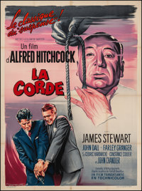 """Rope (MGM, R-1950s). French Grande (46"""" X 62""""). Hitchcock"""