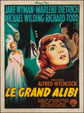 """Movie Posters:Hitchcock, Stage Fright (Warner Brothers, 1950). French Grande (46"""" X 62.5""""). Hitchcock.. ..."""