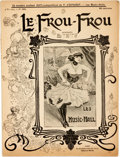 Books:Periodicals, French Antique Illustrated Magazine, Le Frou Frou. 1903.Original wrappers. Toned, with minor edgewear. Very good. ...