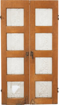 Art Glass:Steuben, A PAIR OF STEUBEN FROSTED GLASS PANEL INSET WINDOWS, circa 1920. 48inches high x 13 inches wide (121.9 x 33.0 cm) (each). ... (Total:2 Items)