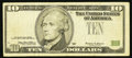 Error Notes:Third Printing on Reverse, Fr. 2033-C $10 1999 Federal Reserve Note. Fine.. ...