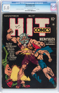 Golden Age (1938-1955):Superhero, Hit Comics #17 (Quality, 1941) CGC VG/FN 5.0 Light tan to off-white pages....