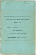 Books:Americana & American History, J. Hubley Ashton. In the American and Mexican Joint Commission.William E Barron and William Barron vs. The United State...
