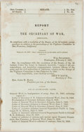 Books:Americana & American History, [Jefferson Davis]. Report of the Secretary of War,Communicating, in Compliance with a Resolution of the Senate, ofthe ...