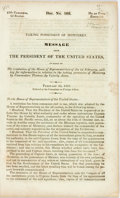 Books:Americana & American History, [John Tyler]. Taking Possession of Monterey. Message from thePresident of the United States, in Reply to the Resolution...