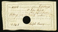 Colonial Notes:Connecticut, Connecticut Interest Certificate £1 14s 1d September 1, 1790Anderson CT-49 Very Fine, HOC.. ...