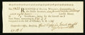 Colonial Notes:Connecticut, Connecticut Receipt for Lawful Money £27 4s 8d February 1, 1789Extremely Fine.. ...