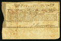 Colonial Notes:Connecticut, Connecticut Treasury Certificate £21 15s 4d February 1, 1781Anderson CT-21 Fine, CC.. ...