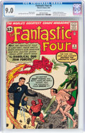 Silver Age (1956-1969):Superhero, Fantastic Four #6 (Marvel, 1962) CGC VF/NM 9.0 Off-white to whitepages....