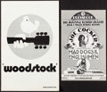 "Movie Posters:Rock and Roll, Woodstock and Other Lot (Warner Brothers, 1970). Uncut Pressbooks(2) (Multiple Pages, 11"" X 17"" & 8.5"" X 13.5""). Rock and R...(Total: 2 Items)"