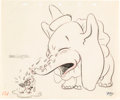 Animation Art:Production Drawing, Dumbo Concept Sketch (Walt Disney, 1941)....