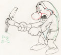 Animation Art:Production Drawing, Snow White and Seven Dwarfs Grumpy Animation Drawing (WaltDisney, 1937)....