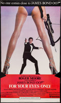 "Movie Posters:James Bond, For Your Eyes Only (United Artists, 1981). Trimmed Standee (34"" X58""). James Bond.. ..."