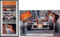 Automobilia, PAIR OF AYRTON SENNA SIGNED MONTAGE POSTERS, 1990s. 28 x 14 inches(71.1 x 35.6 cm) and 20 x 30 inches (50.8 x 76.2 cm). ... (Total: 2Items)