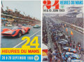 Automobilia, TWO 1960'S LE MANS ORIGINAL EVENT ADVERTISING POSTERS (JUNE 1968AND 1969). Delourmel, Andre 1968-1969. 23-1/2 x 15-1/2 inch...(Total: 2 Items)