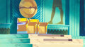 Animation Art:Painted cel background, Moses - The Greatest Adventure: Stories from the BiblePharaoh's Throne Painted Master Background Animation Art (Hanna...
