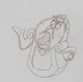 Animation Art:Production Drawing, Beauty and the Beast Cogsworth Production Drawing AnimationArt (Walt Disney, 1991)....