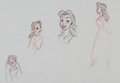 animation art:Model Sheet, Beauty and the Beast Belle Model Sheet Animation Art (WaltDisney, 1991)....